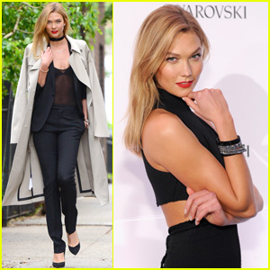 Karlie Kloss Shines With 'Swaroski' at the Top of the Rock