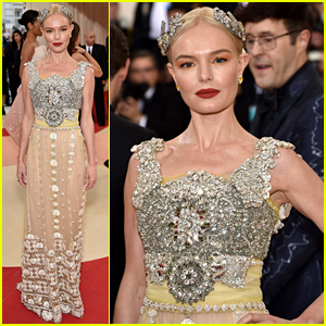 Kate Bosworth Dazzles in Dolce on Met Gala 2016 Red Carpet