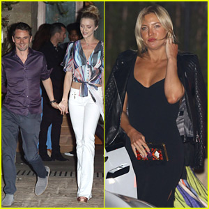 Kate Hudson & Ex Matthew Bellamy Attend Beach Club Opening