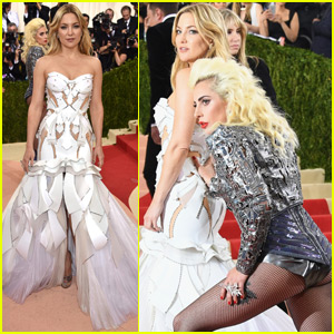 Kate Hudson Gets Photobombed by Lady Gaga at Met Gala 2016