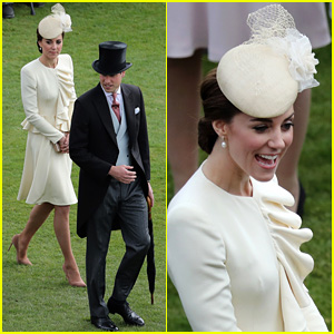 Kate Middleton & Prince William Put On Their Finest for Palace Garden Party
