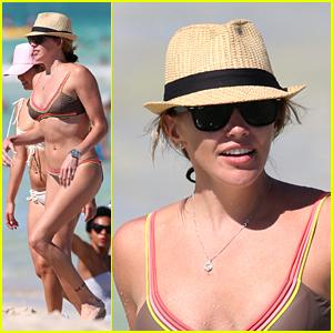 Arrow's Katie Cassidy Enjoys Miami Sun Before Jetting to London