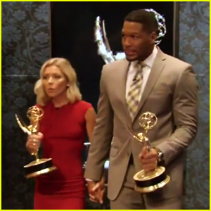 Kelly Ripa & Michael Strahan Celebrate Daytime Emmy Award 2016 Win (Video)!