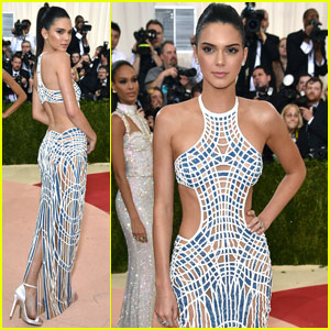 Kendall Jenner Wears Cutout Versace Gown for Met Gala 2016