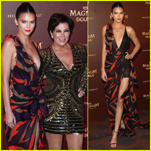 Kendall & Kris Jenner Get Glam for Cannes Magnum Party