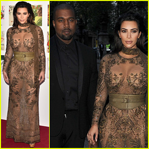 Kim Kardashian & Kanye West Have Date Night at Vogue 100 Gala