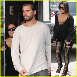 Kim Kardashian Grabs Lunch With Scott Disick in Hollywood
