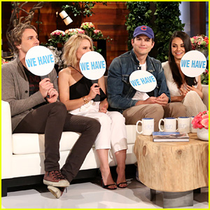 Mila Kunis, Ashton Kutcher, Kristen Bell & Dax Shepard Play 'Never Have We Ever' on 'Ellen' - Watch Now!