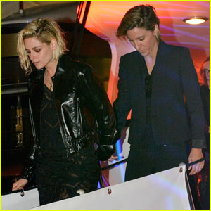 Kristen Stewart & Alicia Cargile Couple Up for Cannes Party After Her Film is Booed by Audience
