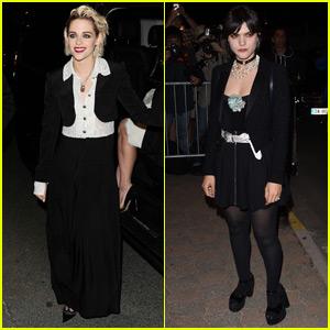 Kristen Stewart & Soko Separately Attend Cannes Vanity Fair Dinner