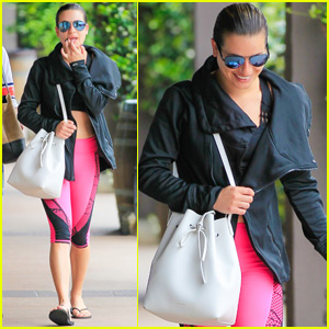 Lea Michele Steps Out After News She's Dating Robert Buckley