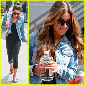 Lea Michele Debuts New 'Sandy Summer' Hair Color