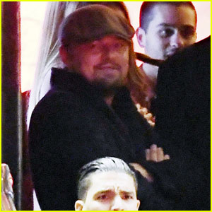 Leonardo DiCaprio Chats With Friends Outside Cannes Club