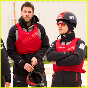Liam Hemsworth Spends the Day Competing in a Water Race!