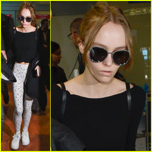 Lily-Rose Depp Touches Down in Cannes for Film Festival
