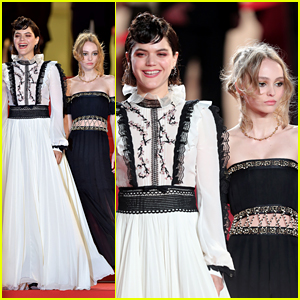 Soko & Lily-Rose Depp Premiere 'The Dancer' at Cannes 2016