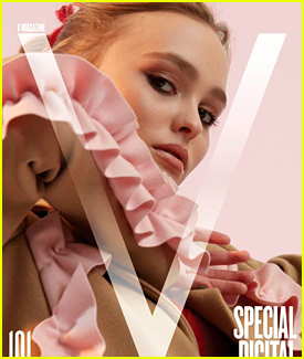 Lily-Rose Depp Talks Coming Out of Her Acting Shell in 'V' Magazine