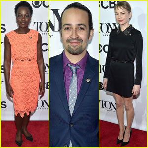 Lin-Manuel Miranda, Lupita Nyong'o, & More Attend Tony Awards 2016 Nominee Reception