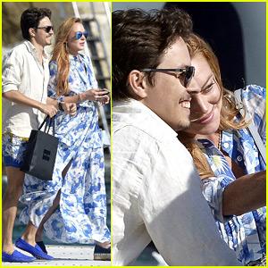 Lindsay Lohan & Fiance Egor Tarabasov Take a Boat Ride in Cannes