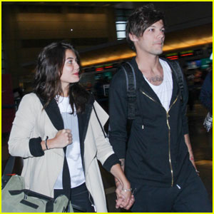 Louis Tomlinson Holds Hands With Danielle Campbell at Airport
