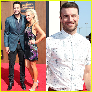 Luke Bryan & Wife Caroline Hit American Country Countdown Awards 2016 Red Carpet!