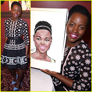 Lupita Nyong'o Honored with Caricature at NYC's Sardi's