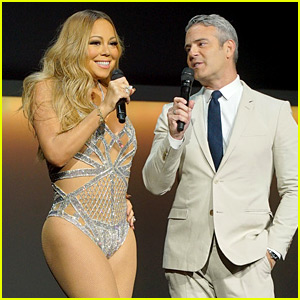 Mariah Carey Wears Almost Nothing, Gets Carried On Stage at NBC Upfront 2016