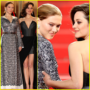 Marion Cotillard & Lea Seydoux Shine on Cannes Red Carpet!