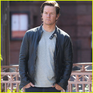Mark Wahlberg Films a Commercial at His Old High School