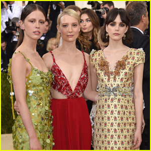 Mia Wasikowska, Mia Goth & Stacy Martin Get Colorful at Met Gala 2016
