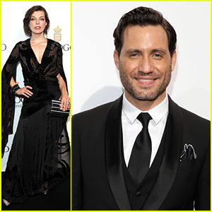 Milla Jovovich & Edgar Ramirez Are Dashing in Black at Cannes Party