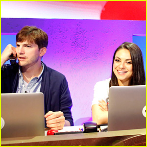 Mila Kunis & Ashton Kutcher Answer Phones Together for Red Nose Day Telecast!