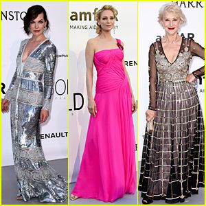 Milla Jovovich, Uma Thurman, & Helen Mirren Attend the amfAR Cannes Gala 2016