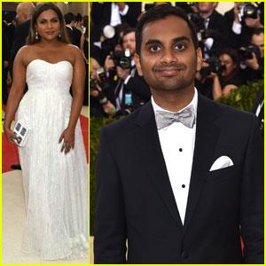 Mindy Kaling & Aziz Ansari Dress to Impress at Met Gala 2016