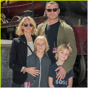 Naomi Watts & Liev Schreiber Have a Family Day at The Wizarding World of Harry Potter