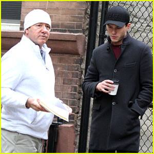 Nicholas Hoult Chats With Kevin Spacey Ahead of 'Rebel In The Rye' Filming