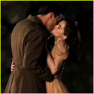 Nicholas Hoult & Zoey Deutch Kiss for 'Rebel in the Rye' Scene