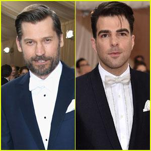 Nikolaj Coster-Waldau & Zachary Quinto Stay Sharp at Met Gala