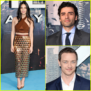 Olivia Munn & Oscar Isaac Premiere 'X-Men' with James McAvoy