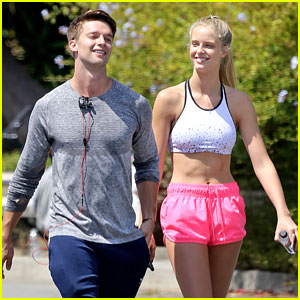 Patrick Schwarzenegger & Abby Champion Hit The Stairs For Weekend Workout