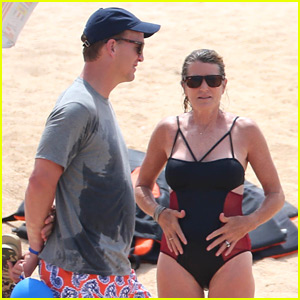 Peyton Manning Hits the Beach in Cabo with Wife Ashley!
