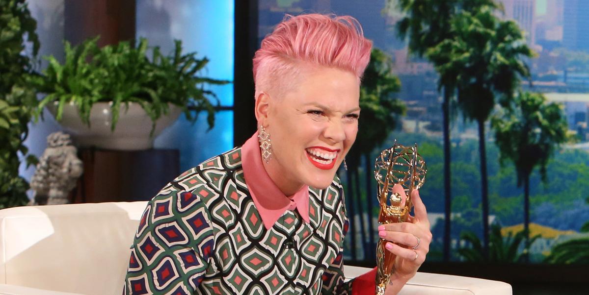 Pink says she carey hart are due for another break ellen degeneres pink video just jared - Ellen show address ...