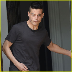 Rami Malek Looks a Little Beat Up While Filming 'Mr. Robot'