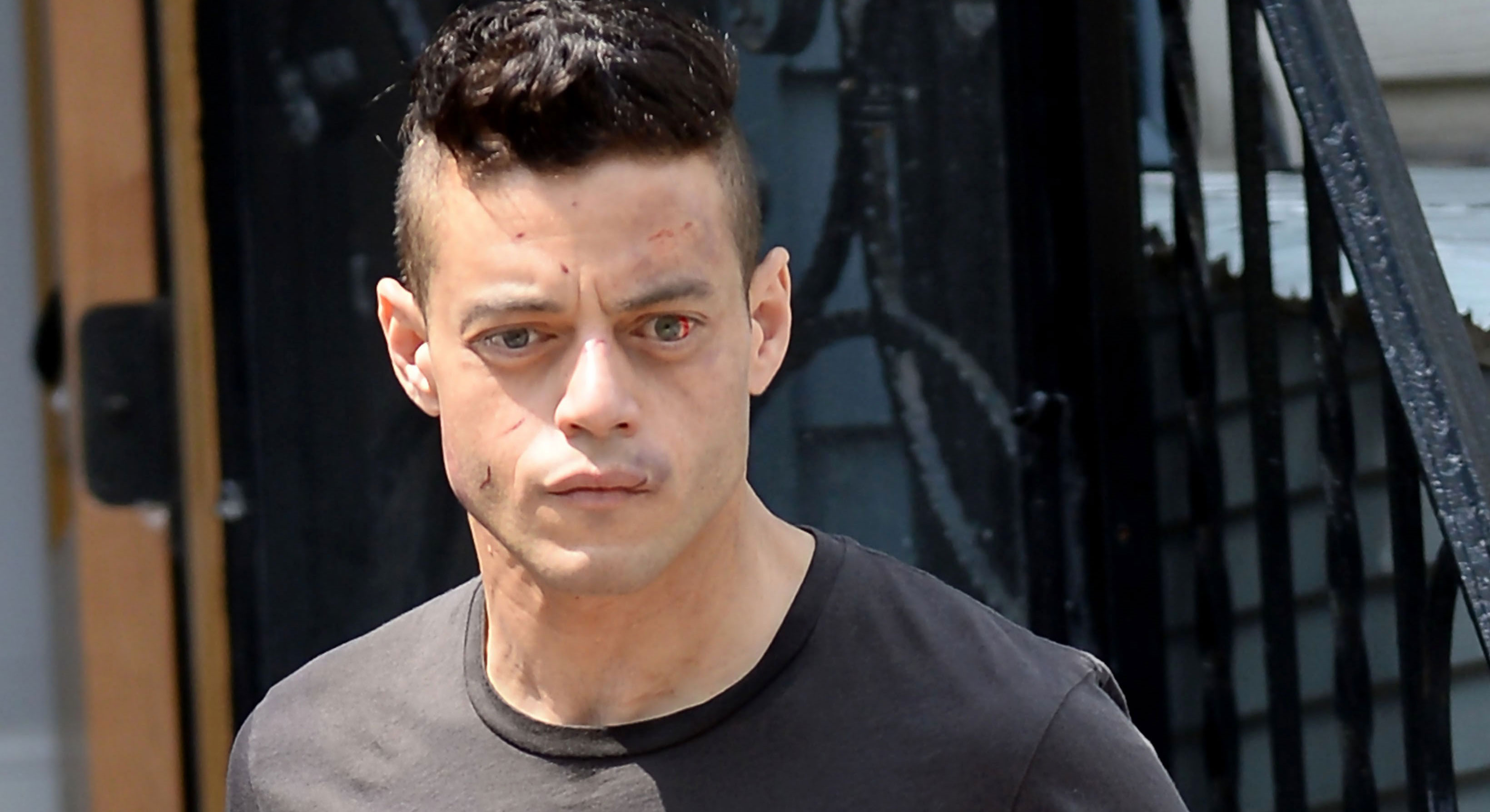 Rami Malek Looks a Little Beat Up While Filming 'Mr. Robot' | Mr ...