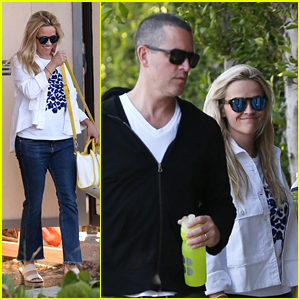 Reese Witherspoon Happily Strolls With Husband Jim Toth
