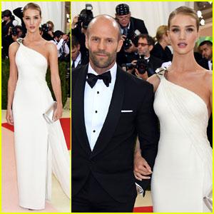 Rosie Huntington-Whiteley & Jason Statham Couple Up in Ralph Lauren for Met Gala 2016