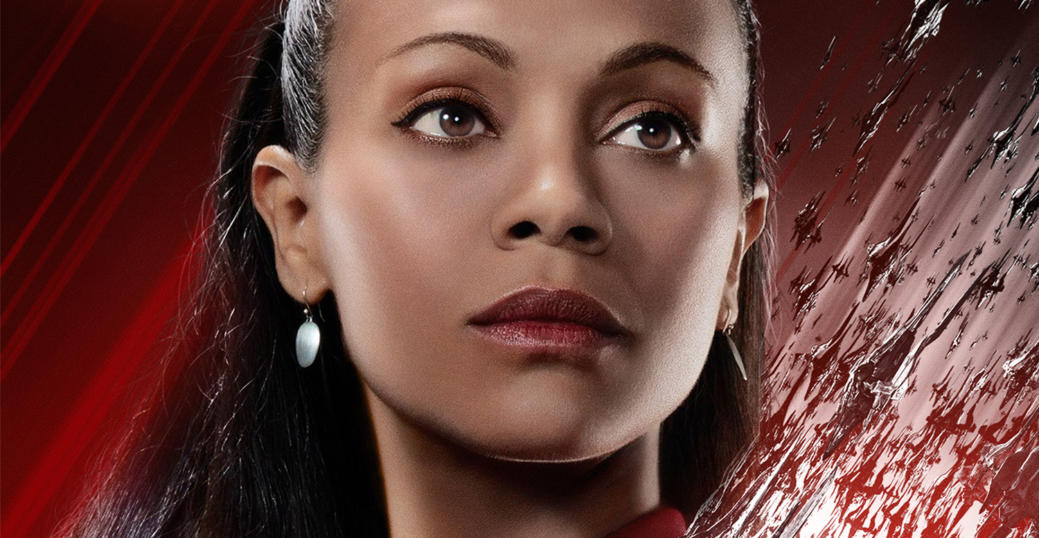 zoe saldana gets a star trek beyond character poster movies star trek zoe saldana just jared. Black Bedroom Furniture Sets. Home Design Ideas