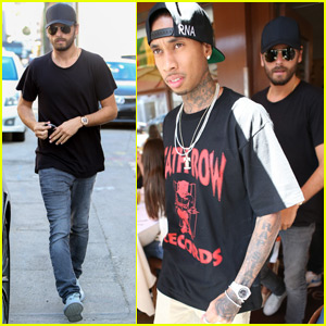 Scott Disick Grabs Birthday Lunch With Tyga