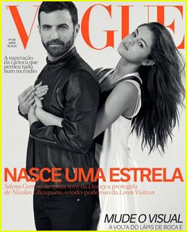 Selena Gomez & Designer Nicolas Ghesquière Cover 'Vogue Brazil'