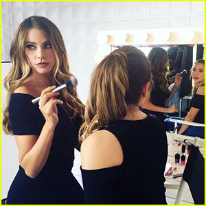 Sofia Vergara Plays Makeup Artist for Covergirl Shoot